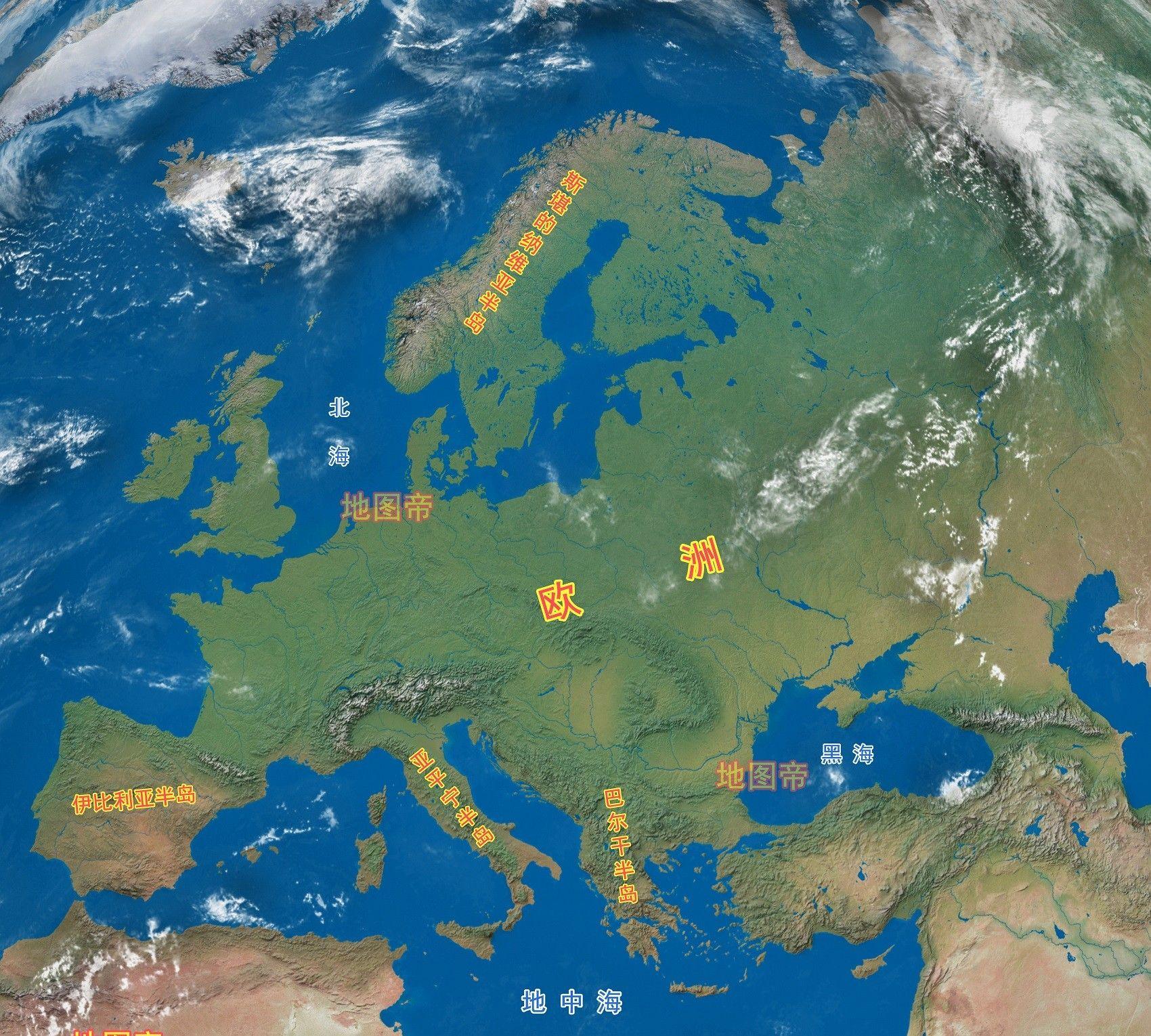 欧洲四大半岛是哪几个?看地图一目了然