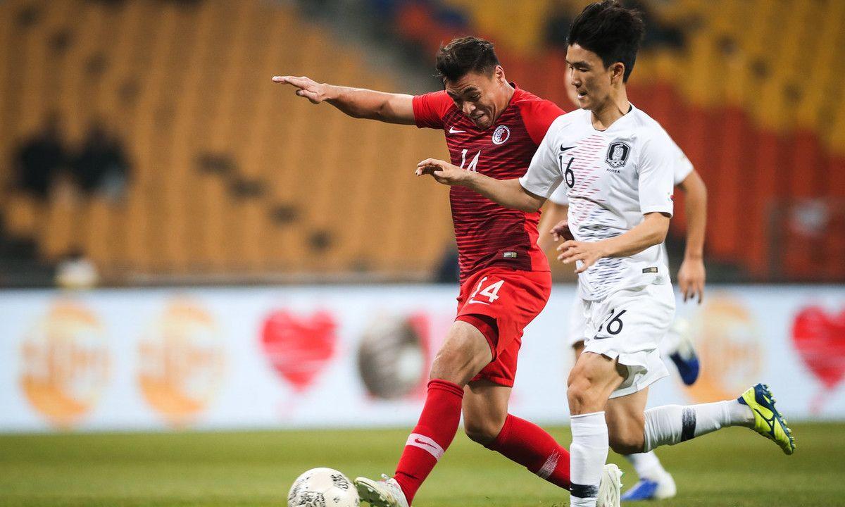 补时建功,东亚杯韩国半场1-0中国香港,中超面孔亮相