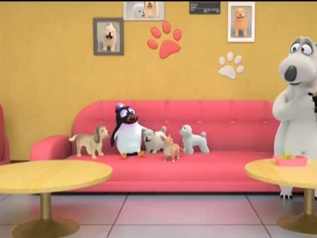 贝肯熊想疼爱小狗没想到被缠住了计划失败了