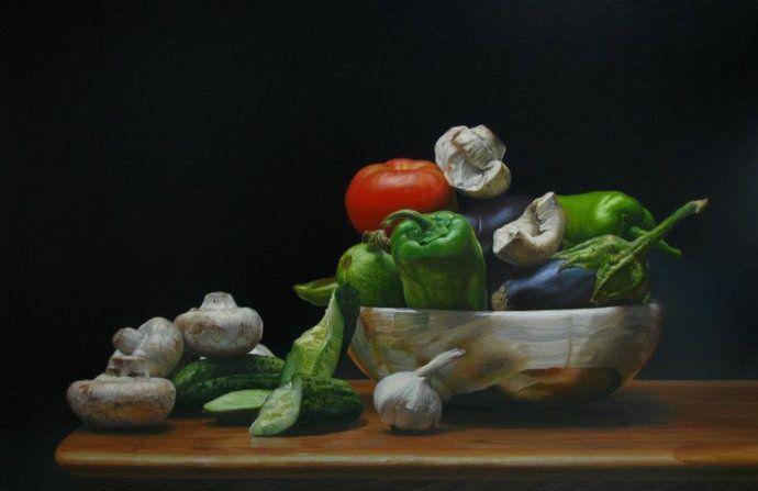 保加利亚艺术家Andrian Bekisrov油画静物作品欣赏