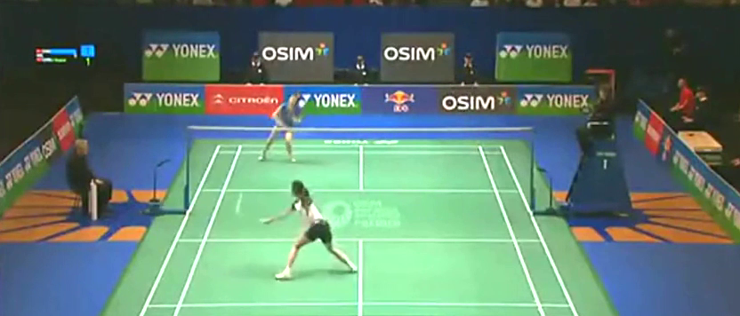 2012全英女单决赛,王仪涵vs李雪芮,中国金花巅峰对战,够精彩