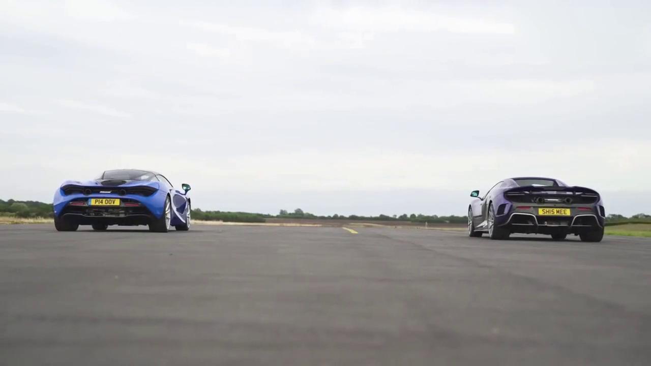 视频:迈凯伦675LT VS 720S,一脚油门后才知道差距在哪里!