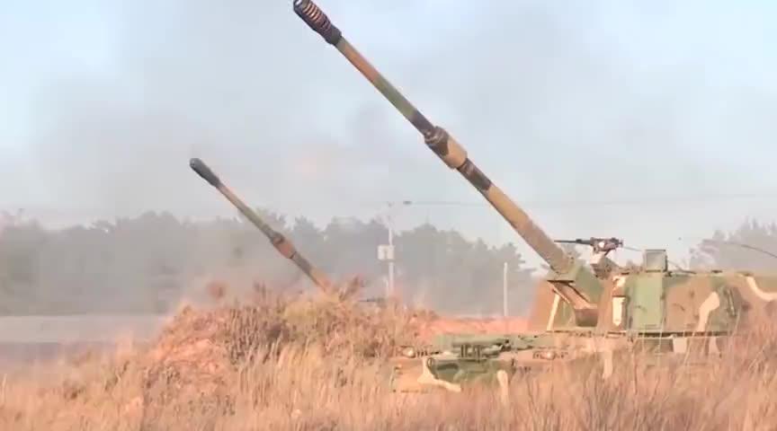 土耳其遭有力反击红箭8导弹又立了大功K9榴弹炮炮塔炸飞