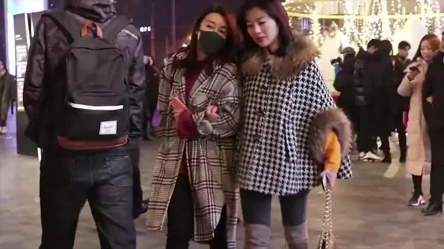 街拍三里屯北京冬天逛街穿什么参考一下这些小姐姐的搭配