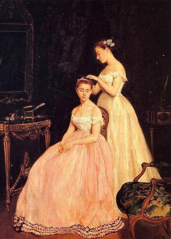 欧洲贵族淑女几百年前怎么梳妆打扮,在油画中看透图片