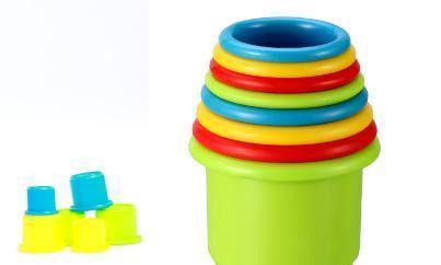 """培养一岁半宝宝动手、认知和思维能力--""""八塔杯""""幼儿玩具"""