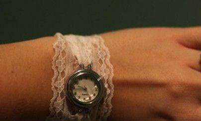 优雅复古的蕾丝腕表手链手工制作图片教程