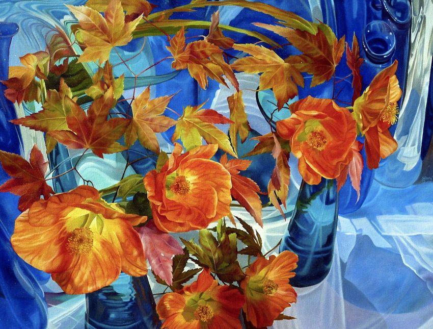他画的玻璃器皿和花卉被称为一绝:来自Hilary Eddy的油画欣赏