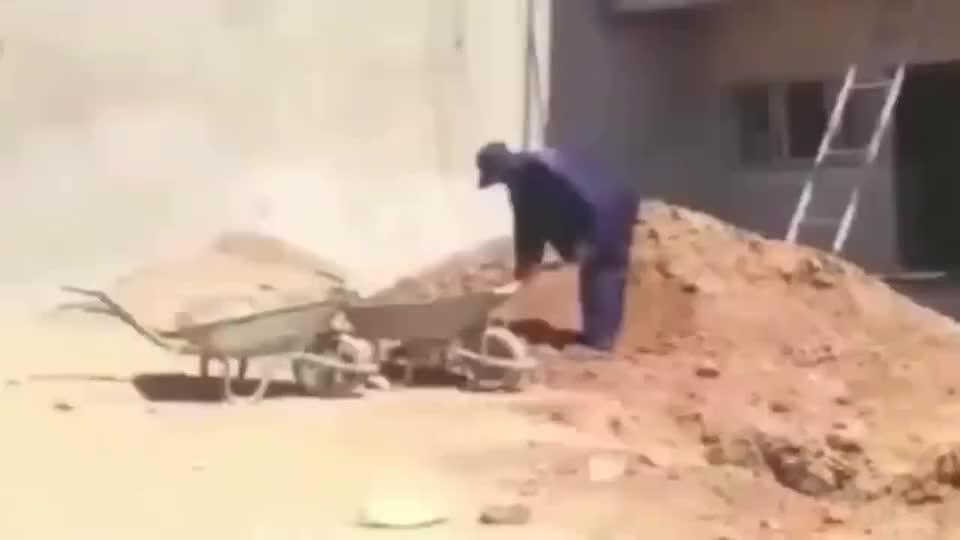 来看看非洲工人偷懒的最高境界中国老板表示很无奈