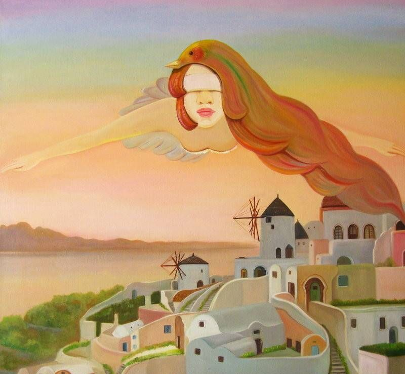 北京电影学院美术系毕业生孙莹的创意少女绘画作品