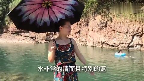 浙江农村这个天然游泳池已成衢州避暑网红打卡地美得不像话