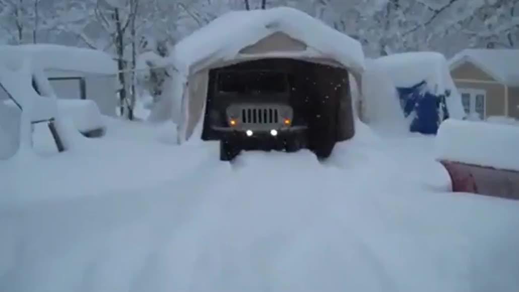 牧马人:下雪了我要出去玩儿会儿再继续睡