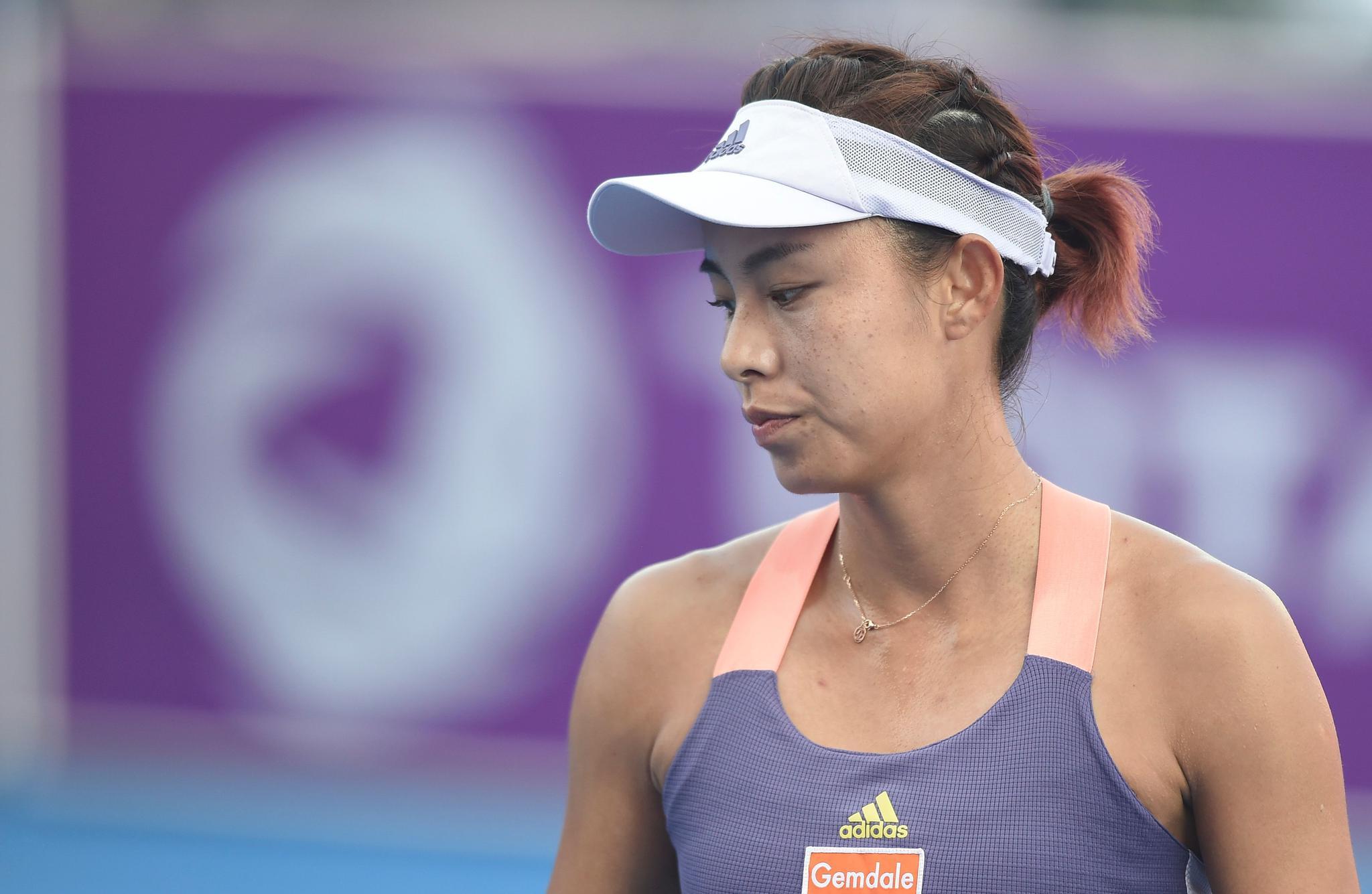 网球——WTA卡塔尔公开赛:王蔷止步首轮