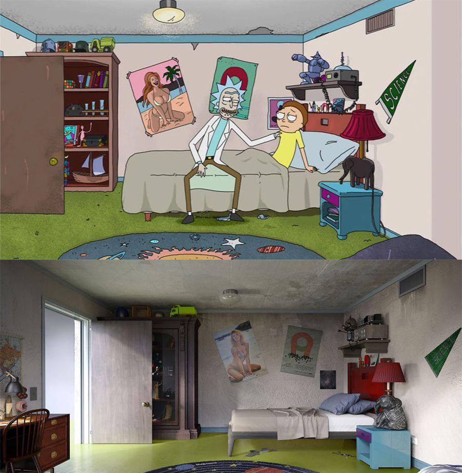 """神还原:他们把动画片中的房间,做出了""""现实版"""""""