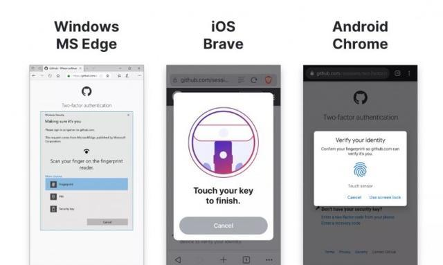 GitHub现在支持安全密钥和生物识别选项进行身份验证