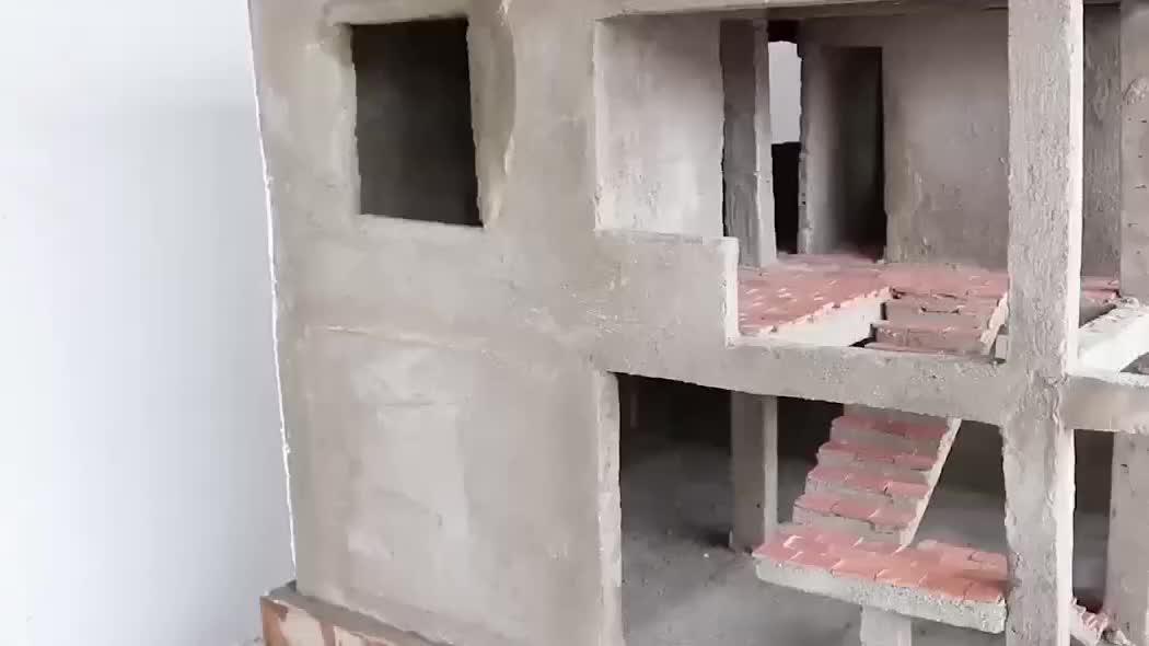头一回见这样的房子,砖头只有拇指大小,看看他如何装修内部的