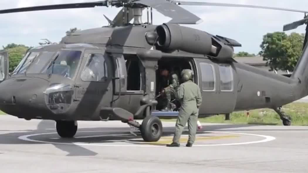 UH-60黑鹰通用直升机启动场景,中国引进的美式先进装备之一!