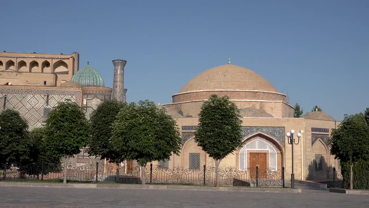 丝绸之路上重要枢纽乌兹别克斯坦中亚古城撒马尔罕