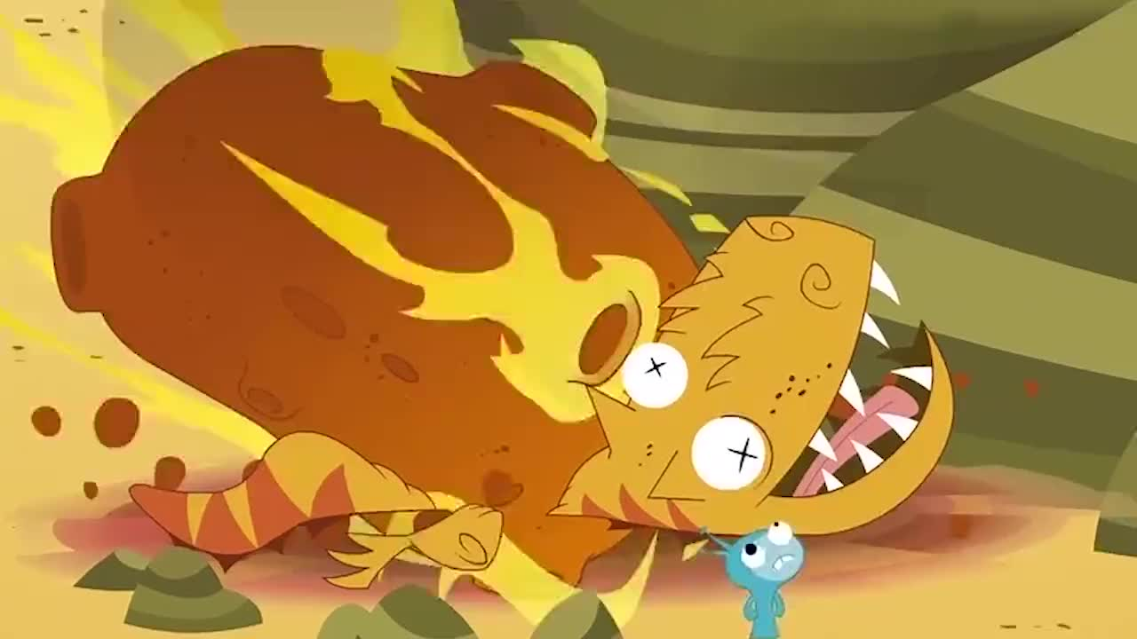不死小萌物霸王龙想把小萌物吃掉然后霸王龙就被陨石砸扁了