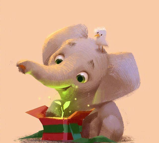 超级可爱的小动物插画,你喜欢哪一个呢?