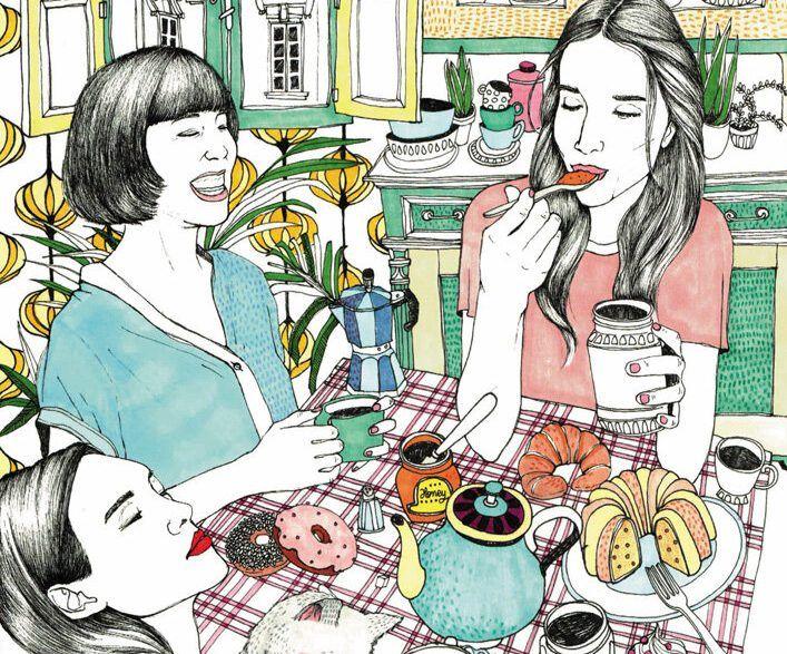 「插画欣赏」国外插画师AnaJarén女性生活插画设计欣赏