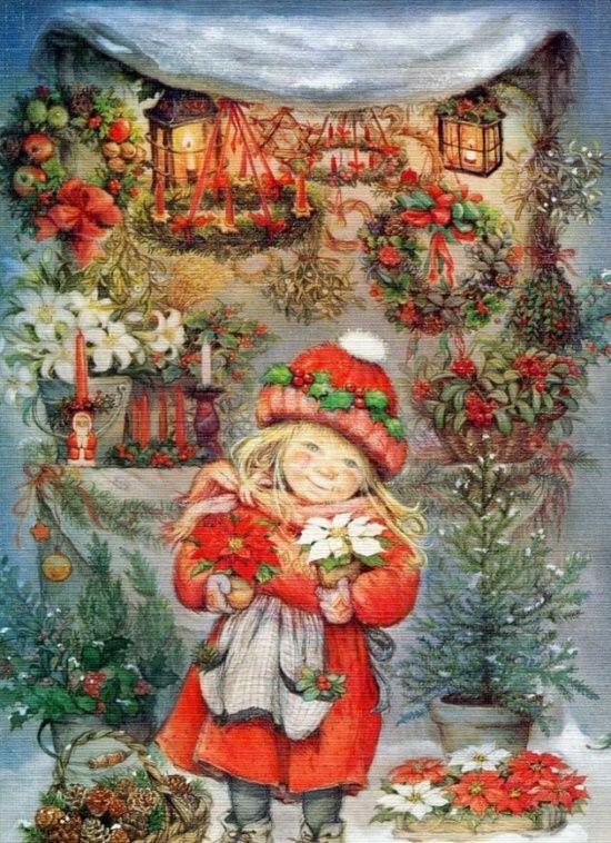 插画:西班牙女画家Lisi Martin的圣诞主题插画,温馨可爱