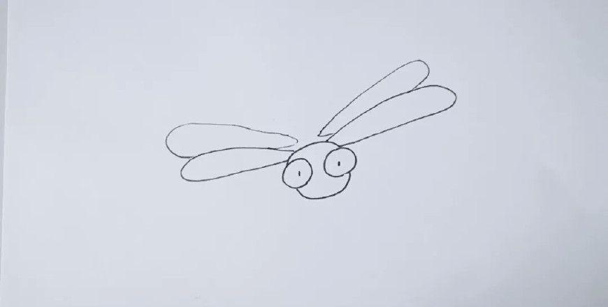 表情 小蜻蜓简笔画画法,小朋友们学会了吗 小蜻蜓 蜻蜓 圆圈 新浪网 表情