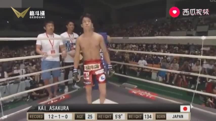 曾挑战UFC冠军大力鼠的日本名将,竟被他KO