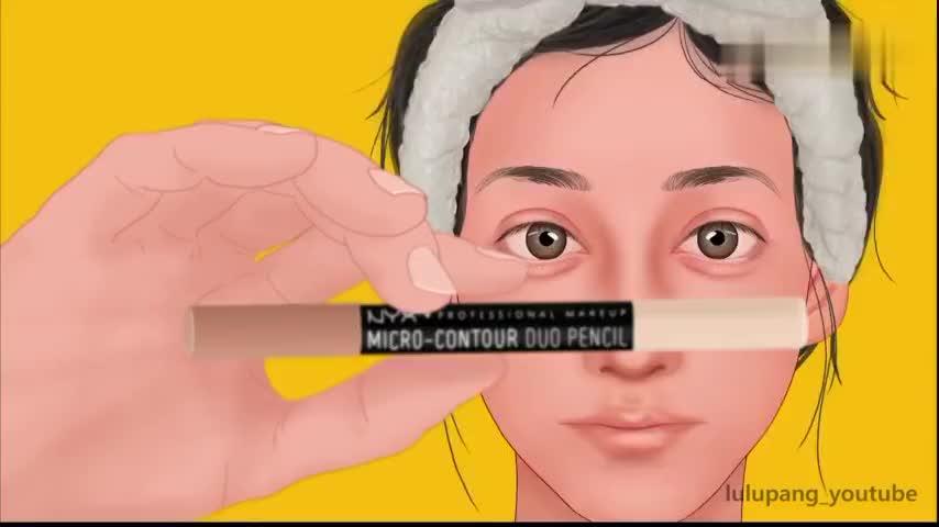 如果你不会化妆请看这个动画看美女是如何养成的