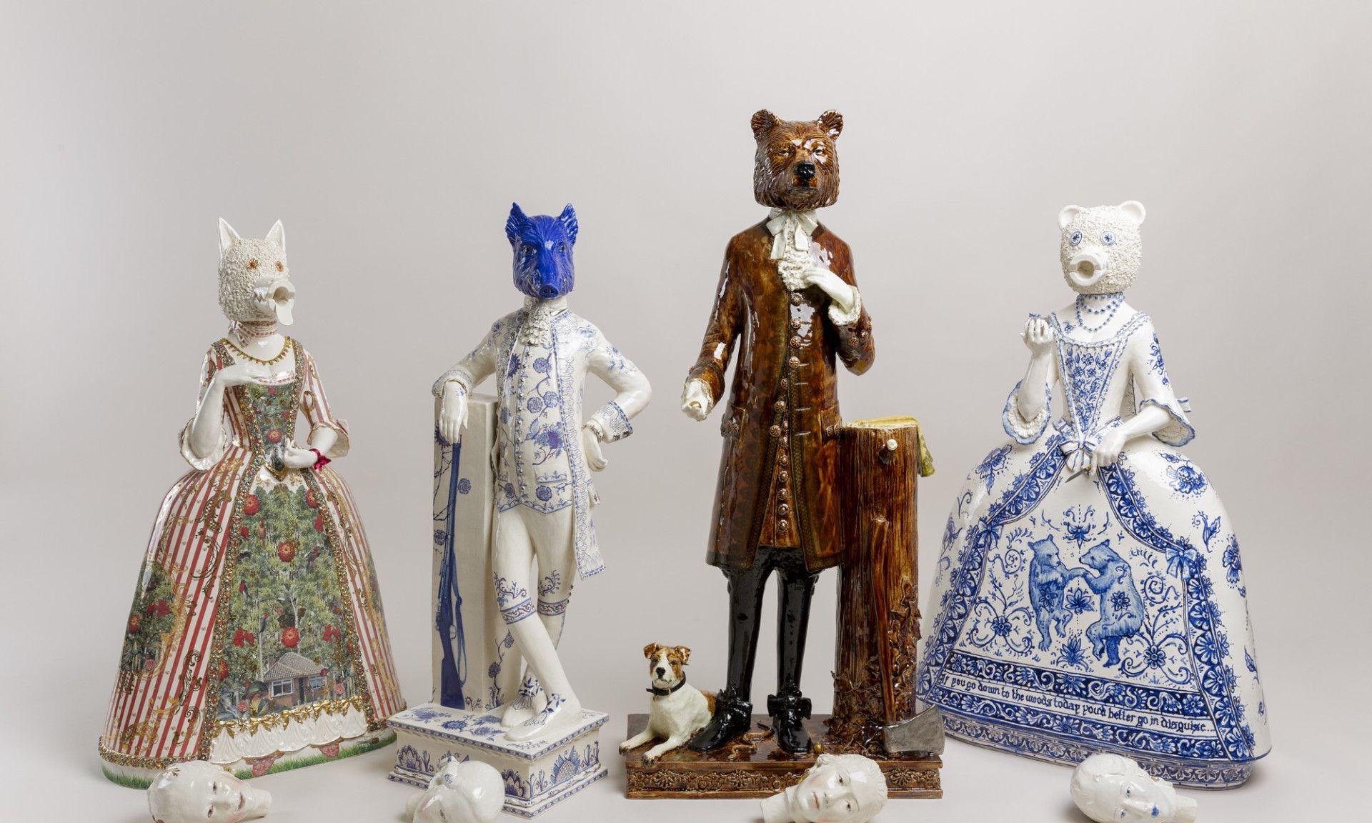 伦敦艺术家Claire Partington创作的具象陶瓷器皿艺术作品