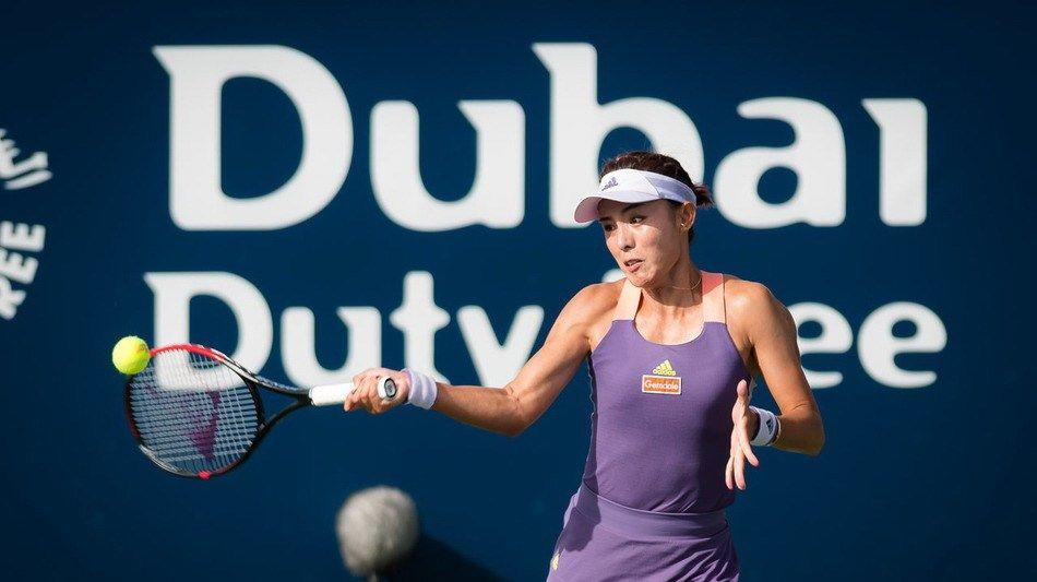 2020年WTA迪拜网球公开赛女单第1轮,中国金花王蔷0比2梅尔滕斯