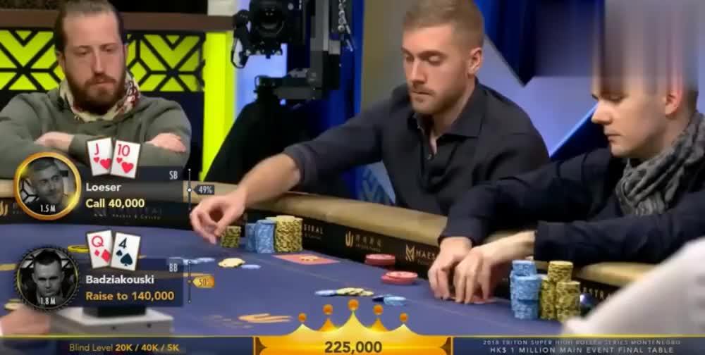 《德州扑克》两个男子单挑结果真是出人意料真是精彩了