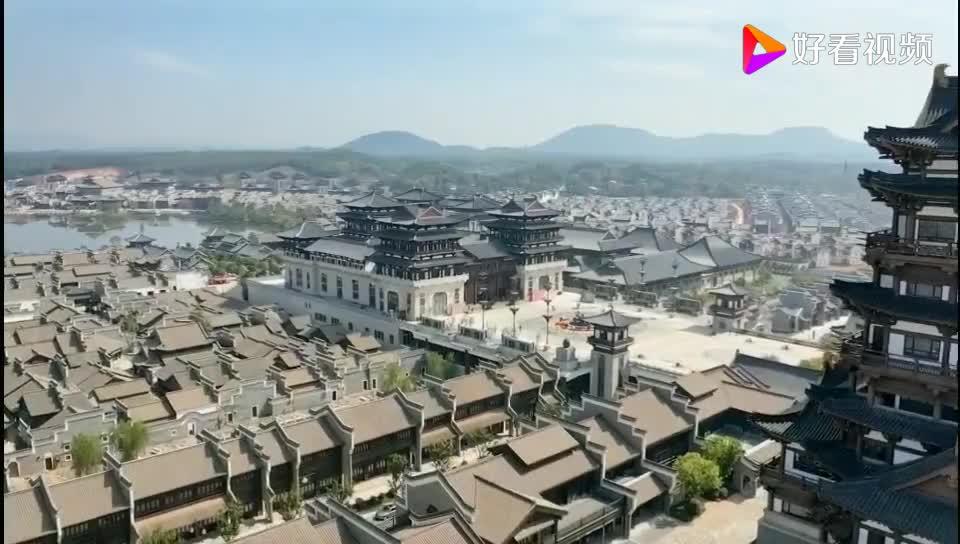 航拍视频长沙铜官窑古镇 新华联铜官窑古镇