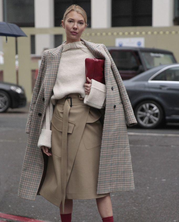 降温也要美美的 大衣+过膝半裙实穿好看一点也不冷