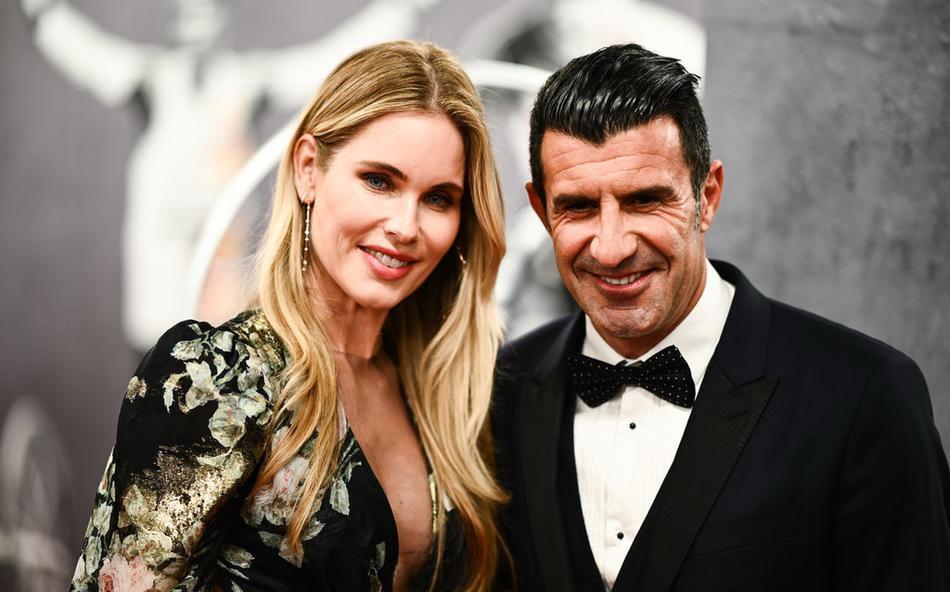 葡萄牙球星菲戈携爱妻出席2020年劳伦斯世界体育颁奖礼