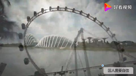 亚洲顶级城市新加坡VS中国直辖市天津市 航拍对比两者的城市建设