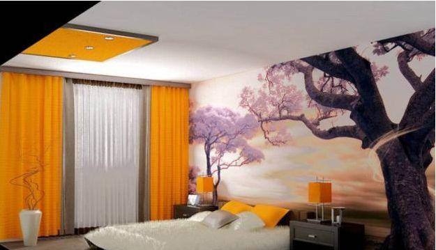 用现代壁纸创造视错觉来拉伸小房间