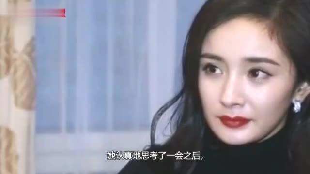 杨幂被问如果刘恺威给小糯米找后妈怎么办她下意识回应太现实