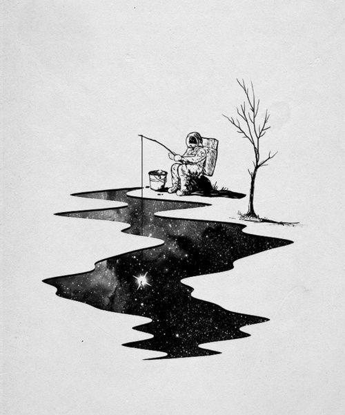 艺术家笔下超有想象力的宇航员插画