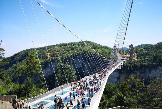 张家界大峡谷玻璃桥景区