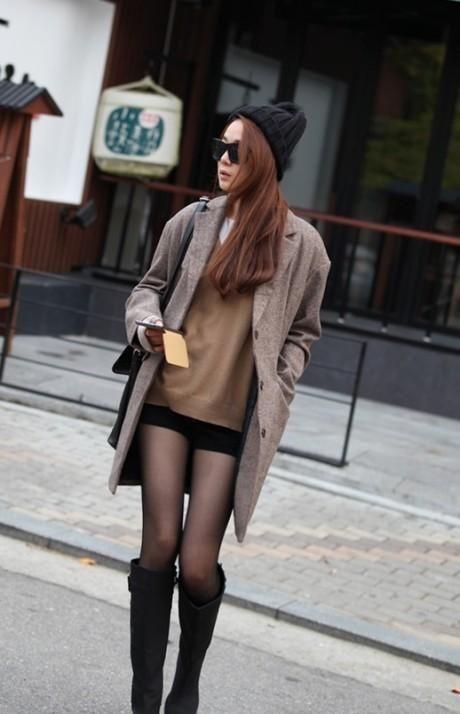 过膝长靴,时髦人的秋冬足尖魅力,职场女性一种简约设计之美