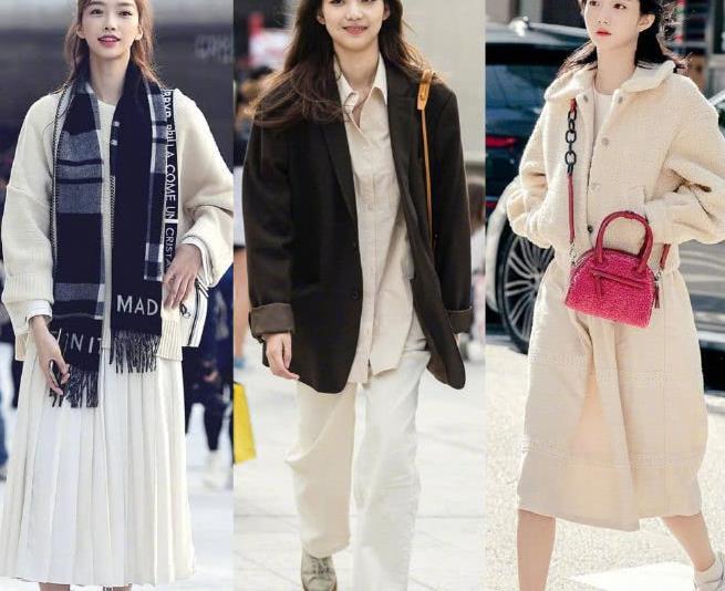 首尔街拍,韩国小姐姐日常时髦穿搭,又御又甜行走的穿搭范本!