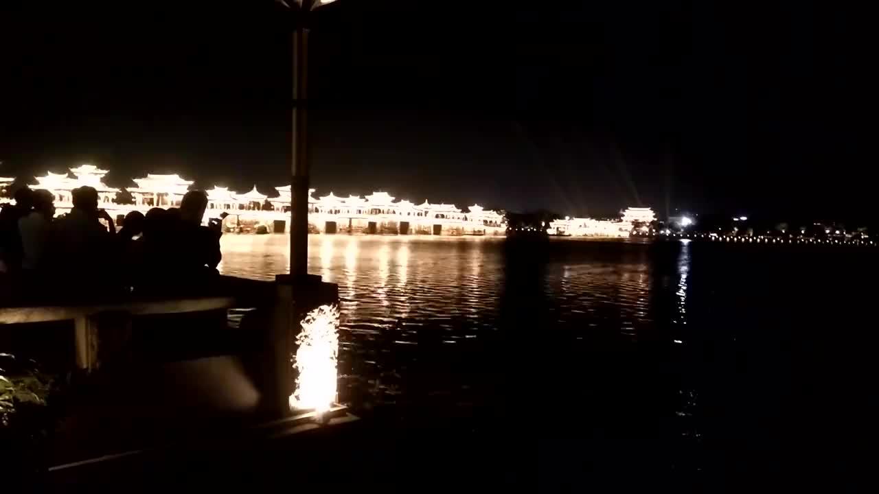 潮州广济桥也叫湘子桥太美了今晚才有空拍夜景下一个视频更好看