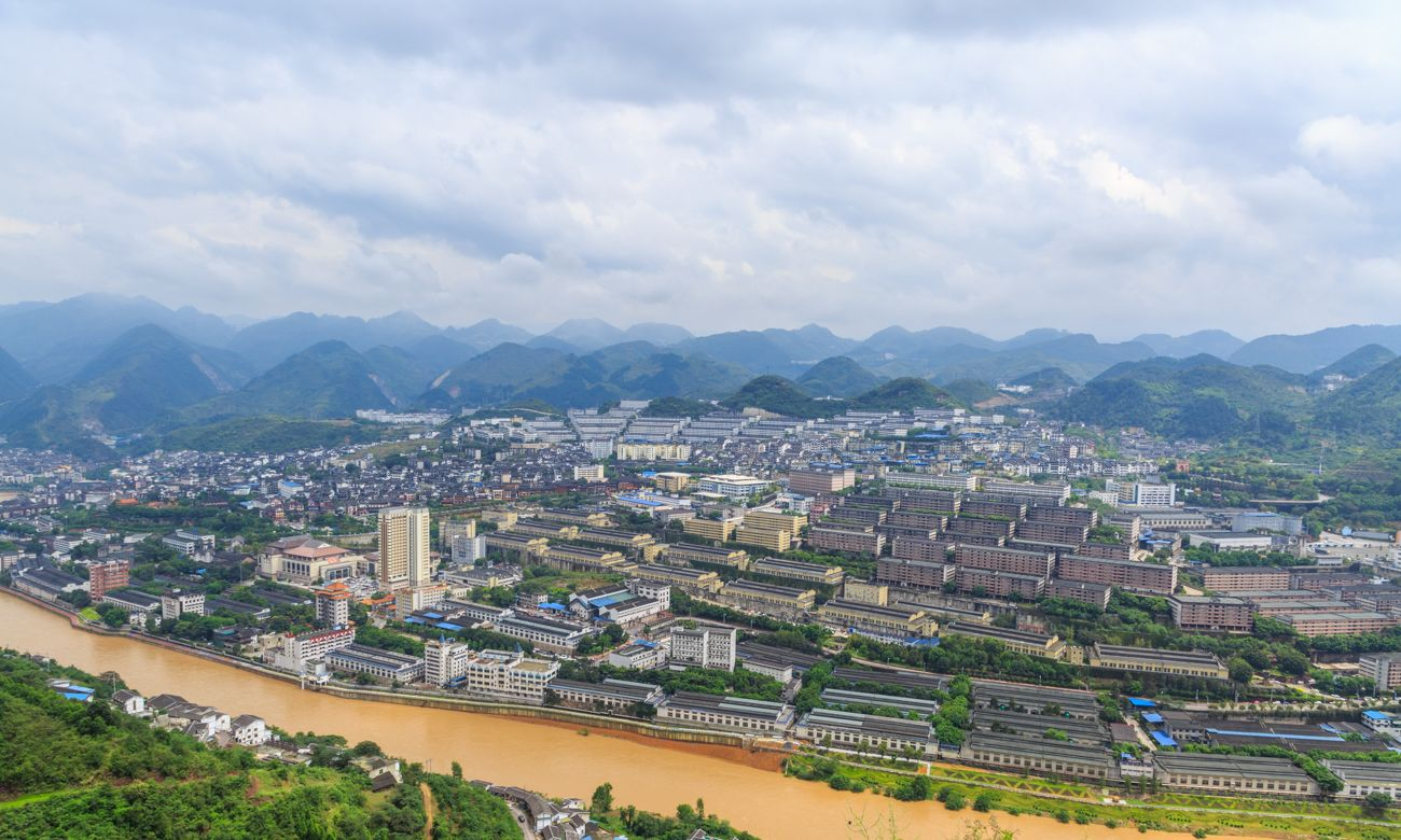 茅台镇是贵州最富裕的镇,中国第一酒镇建设得太棒了