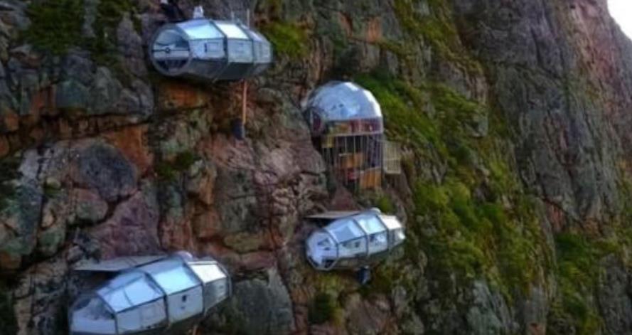 """世界上""""最可怕""""的宾馆,直接建在悬崖峭壁上,你们敢睡吗?"""