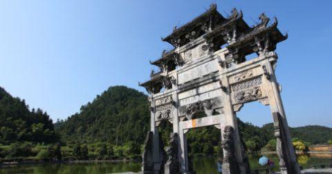 西递古村,黄山市最具代表性的古民居旅游景点