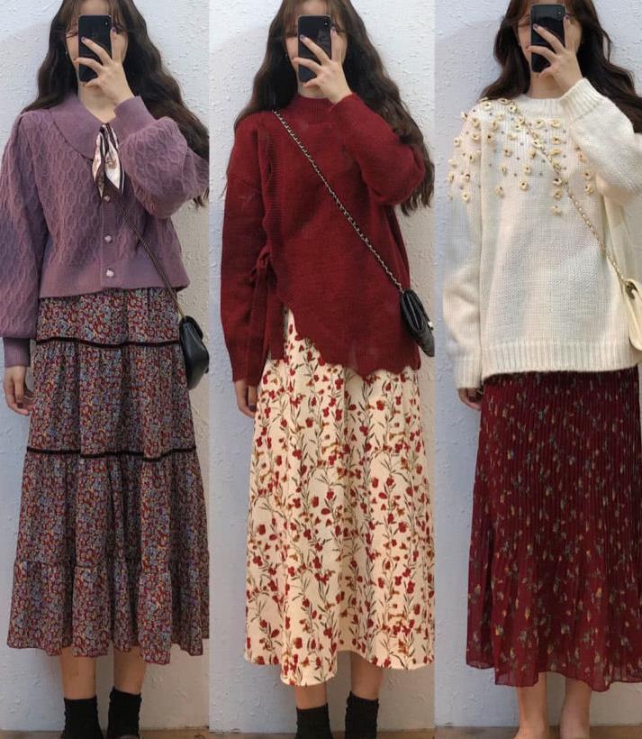 春天最爱的碎花裙,怎么穿才好看?18套甜美简约风穿搭,快来学习