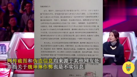 最强大脑梅轩宇承认捏造魏坤琳桑洁不正当关系,魏坤琳再发声