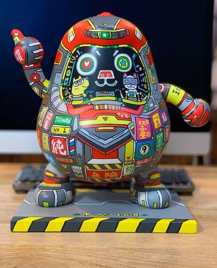 日本万代达摩公仔融入中国文化的雕塑上色,完美!