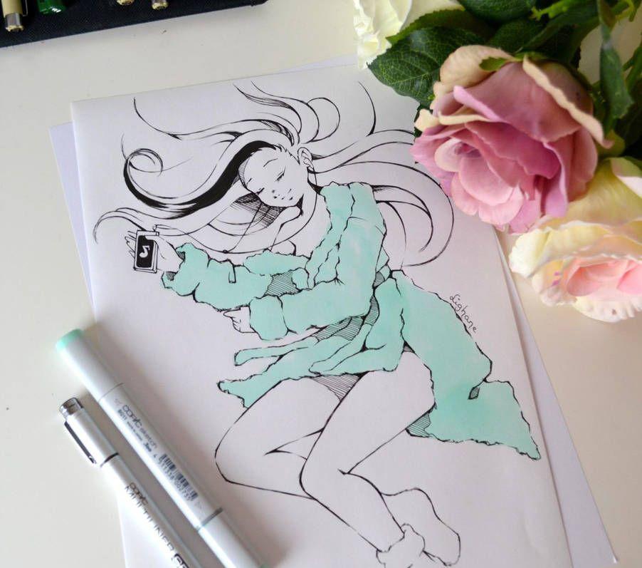 插画:漂亮的手绘人物欣赏